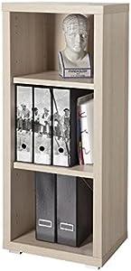Composad Libreria modulare Tre vani Stretta Serie Stampa Color Frassino 44x36x113 cm