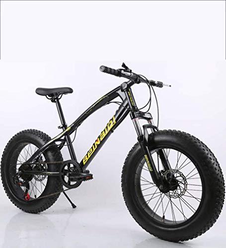 AISHFP Fat Tire Mens Mountain Bike, Double Disc Brake/High-Carbon Steel Frame Cruiser Bikes, Beach Snowmobile Bicycle, 26 inch Wheels,E,27 Speed