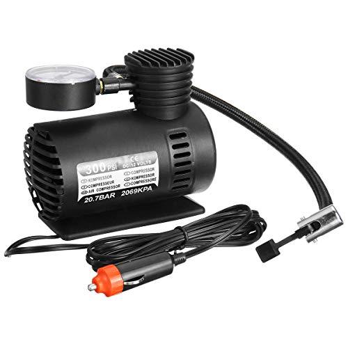 WZhen 12V 300 PSI Coche Neumático Aire Compresor Bomba Bicicleta Ciclo Compacto Inflador Portátil