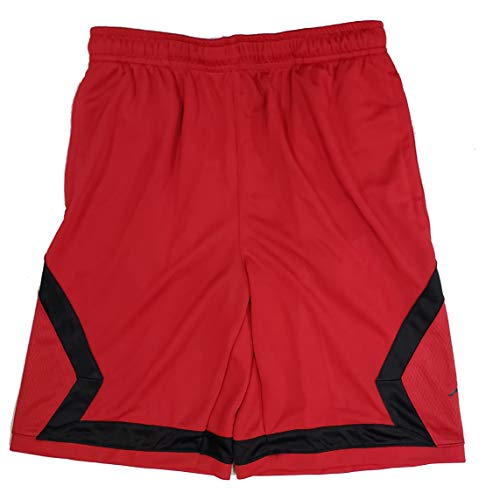 Nike Boys Air Jordan Flight Diamond Basketball Shorts Red Black Black White 953296 (Red, XL)