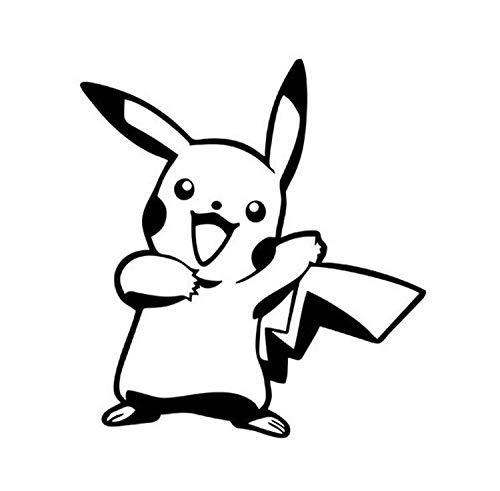 Pikachi Pocket Monster Etiqueta engomada del Coche Personalidad Pegatina Divertida del Coche (Color : 1)