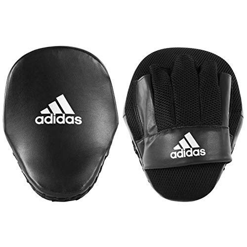 adidas Boxing Pads Focus Mitts Adult Kids Men Women Curved Gym Fitness Training Martial Arts Guantes, Negro/Blanco, Talla única