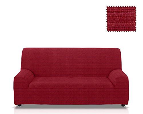 JM Textil Copridivano Elastico Moraig Dimensione 4 posti (da 210 a 240 Cm.), Colore Rosso (Vari Colori Disponibili.)