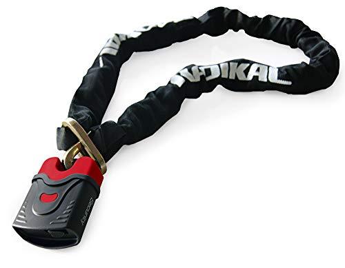 Radikal RK4120 kettingslot voor motorfiets, scooter, fiets, diameter 10 120 cm 120cm Zwart/Rood