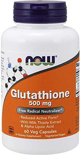 Now Foods Glutatión con extracto de cardo mariano y ácido alfa lipoico, 500 mg 60 Unidades 80 g