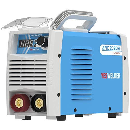 YESWELDER ARC Welder 205Amp Digital Inverter IGBT Stick MMA Welder,110V/220V Dual Voltage Hot Start Portable Welding Machine (Renewed)