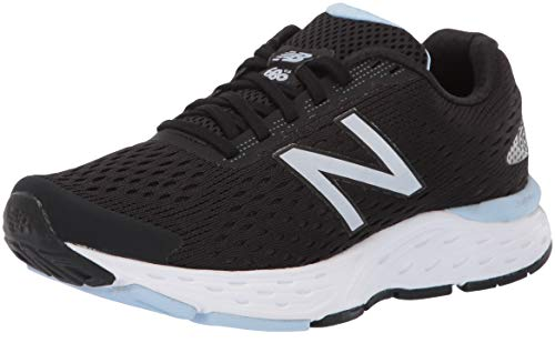 New Balance Women's 680 V6 Running Shoe, Black/Air, 8.5 W US