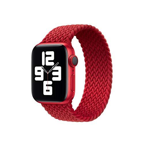 ZLRFCOK Correa de cuero para Apple Watch 44 mm 40 mm iWatch Series 6 SE 5 4 3 2 1 pulseras de 42 mm 38 mm (color de la correa: rojo E, tamaño: L (38 mm o 40 mm)