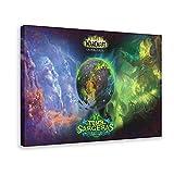 Póster de la Legión de World of Warcraft_ de Illidan Stormrage, Khadgar, Gul'dan A19 en lienzo para decoración de la sala de estar, dormitorio, marco de 50 x 75 cm