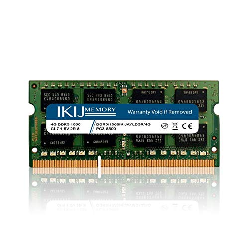 IKIJMEMORY DDR3 1066MHz/1066MHz PC3-8500 Compatible with MacBook,MacBook PRO,iMac Mini (Late 2008, Early 2009, Mid 2009, Late 2009, Mid 2010) (4GB)
