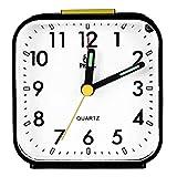 Naisicatar Sveglia Orologio Scrivania Silenzioso Quarzo Nero Sveglia Pratico Sveglia