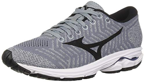 Mizuno Women's Wave Rider 22 Knit Running Shoe, folkstone gray-black 11.5 B US