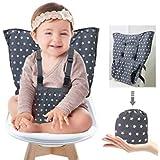 HUJK ベビーチェアベルト 収納ポケット付きチェアベルト 携帯型食事 ベビーチェア小物 幼児旅行の安全 ほし