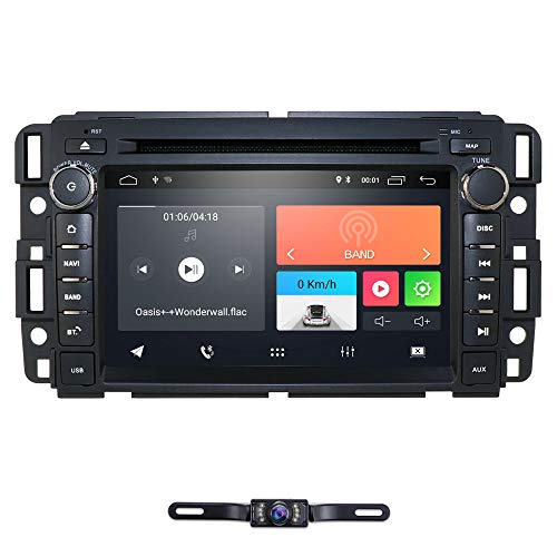 Android 10 Car Stereo DVD Player For Chevy Silverado 1500 2012 Sierra 2011 2010 7 inch Quad Core Double Din In Dash Touchscreen FM/AM Radio Receiver Navigation Bluetooth with Backup Camera