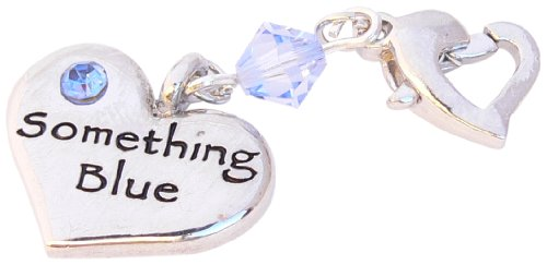 Something Blue Heart Garter Charm - Wedding Gift - Gift Wrapped And Gift Label