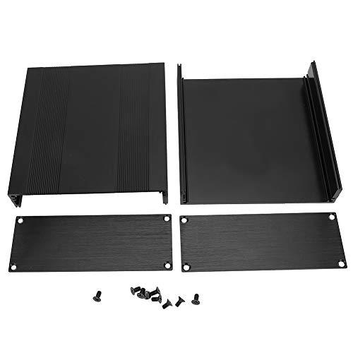 Hazmemejor Aluminiumgehäuse Box - 2.1 * 5.7 * 5.9in Schwarz Aluminium Leiterplatte Box Split Typ DIY Electronic Project Gehäuse Fall für die Wärmeableitung