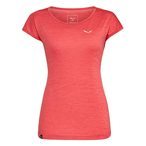Salewa 00-0000026538_1836 T-Shirt Femme, Rose Red Mélange, FR : XS (Taille Fabricant : 40/34)