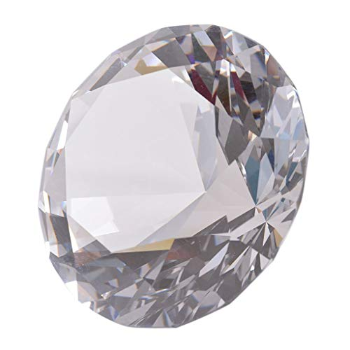 LONGWIN 100mm W Crystal Diamond Paperweight Ornament Home Venue Decorations Solid Clear