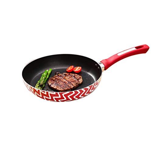 Aluminium Koekenpan|Multifunctionele Skillet|met Bakeliet Handvat|Anti-aanbakpan|Gemakkelijk te reinigen|Geschikt voor alle kookplaten, inclusief inductie AAA~