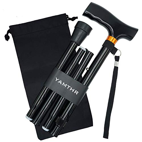 YAMTHR Cane, Folding Walking Cane with Carrying Case for Men Women Fathers...