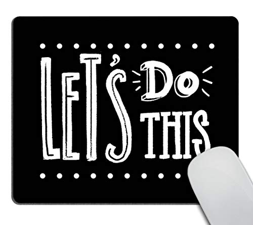 Smooffly Let's do This Motivational Quote Cute Rectangle Mouse Pad Non-Slip Rubber Gaming Mouse Pad Rectangle Mouse Pads for Computers Laptop