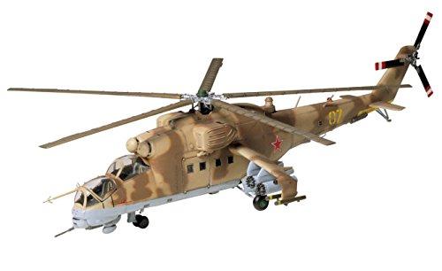 Tamiya 60705 60705-1:72 MIL Mi-24 Hind - Helicóptero teledirigido (Montaje de plástico, sin lacar)