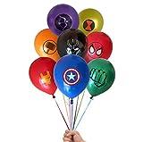 Kolag Marvel Avengers Superhero Emblem 24 Count Party Balloon Pack - Large 12' Latex Balloons