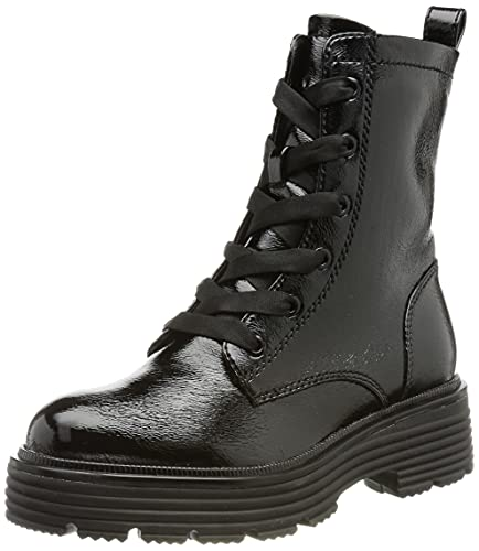 Tamaris Damen 1-1-25226-27 Halblange Stiefel, Black PATENT, 39 EU