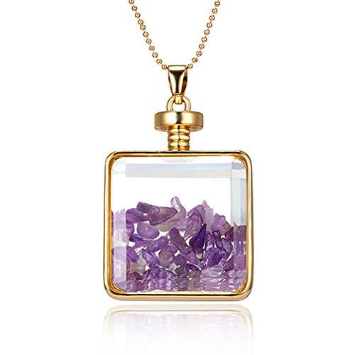 XLHJK Kettinghanger halsketting voor ValentijnsLover geschenk glas fotolijst vrouwen goudkleurig vierkante vorm hanger halsketting sieraden voor vrouwen vriendin geschenk