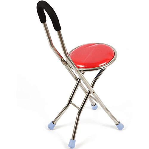 Hairong Walker, Oudere wandelstok vouwstok viervoetige stok stoel kruk B