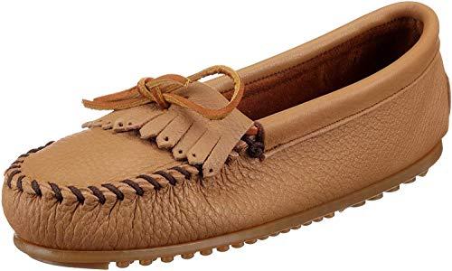 Minnetonka Women's Deerskin Soft-T Moccasin,Mocha Deerskin,6.5 M US