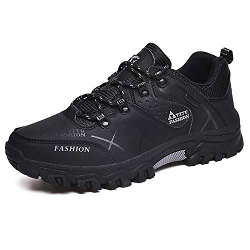N\C Zapatillas de senderismo antideslizantes de los hombres de la manera que corren al aire libre de travesía de senderismo zapatillas