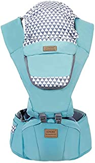 Baby Carrier with Hip Seat 6 in 1 Ergonomic Baby Carrier Backpack (Light Blue)