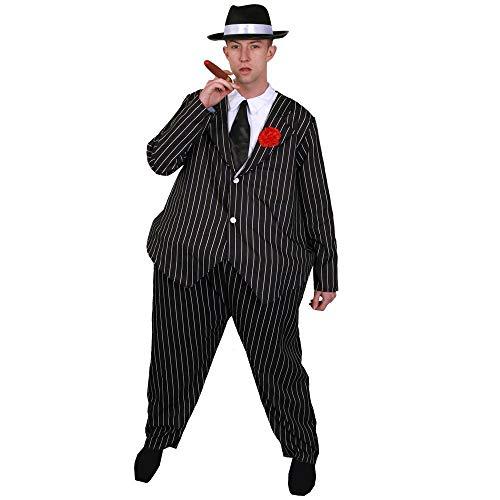 I LOVE FANCY DRESS LTD Fetter Spezial Gangster GANOVE SEHR LUSTIGE Novelty KOSTÜME VERKLEIDUNG=Reifen IM Bauch=EINHEITSGRÖSSE=Fasching Karneval=BEINHALTET KOSTÜM+Hut+Krawatte+ICKE Plastik ZIGARRE