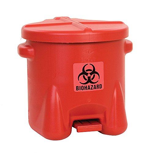 Eagle 945BIO Red Biohazard Waste Can, 10 Gallon