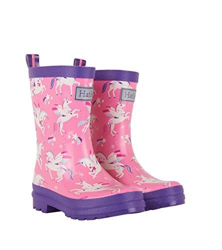 Hatley Printed Boot Girls Rain Accessory, Winged Unicorns, 10 US Child