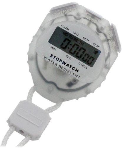 [クレファー]CREPHA デジタルストップウォッチ 日常生活防水仕様 クリア TCE-2056-WT