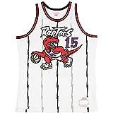WXZB Raptors de Camiseta de Baloncesto # 15 Carter, Camiseta para Hombre Uniforme de Baloncesto, Jersey de Cuello Redondo Retro, Deportes de Fitness Chaleco Transpirable White-XL