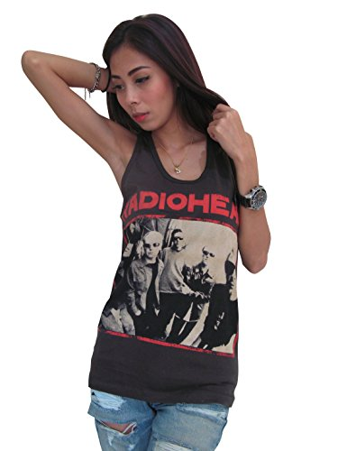 BUNNY BRAND Women's Thom Yorke Radiohead Music Pop T-Shirt Tank Top Black