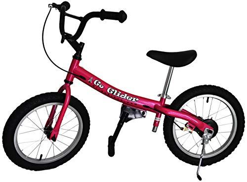 Glide Bikes Kid's Go Glider Balance Bike, Pink, 16-Inch