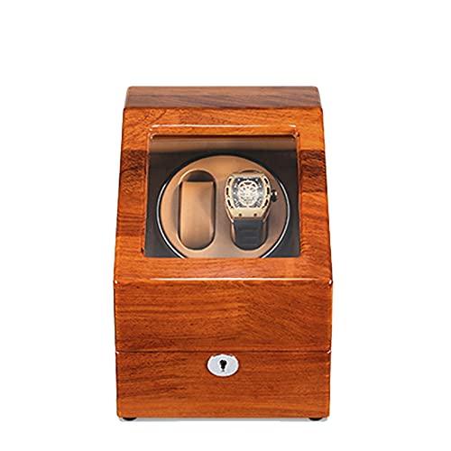 YZSHOUSE Caja de Relojes Automaticos Estuche para 2+ 3 Relojes 5 Velocidades Caja de Relojes Mecánicos Caja Bobinadora de Relojes Hombre Mujer de Madera Caja de Reloj con Motor Silencioso