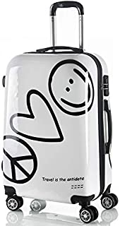 Women Travel Luggage Case Spinner Suitcase Men Travel Rolling Case On Wheels 20 24 Inch Lady Travel Wheeled Suitcase Trolley Bag (Size : 24 inch)