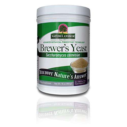 Nature's Answer Brewer's Yeast 16 Ounce | Natural Source of Vitamin B | Vegan, Non-GMO / Soy Free | For Breastfeeding's Mothers | Lactation Support | Natural Increase in Lactation Production