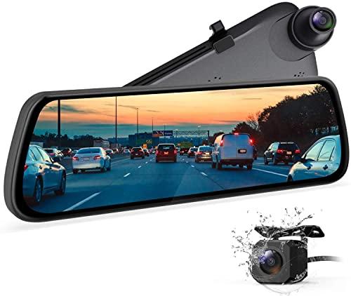 Mirror Dash Cam Dash Camera for Cars, Backup Camera with Night Vision Full Laminated and Anti-Glare...