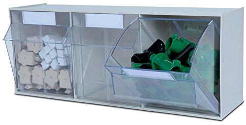 hünersdorff Klarsichtbehälter / Aufbewahrungsbox / Riegel für ein optimales MultiStore-Lagersystem im Baukastenprinzip aus hochschlagfestem Kunststoff (PS), Nr. 3