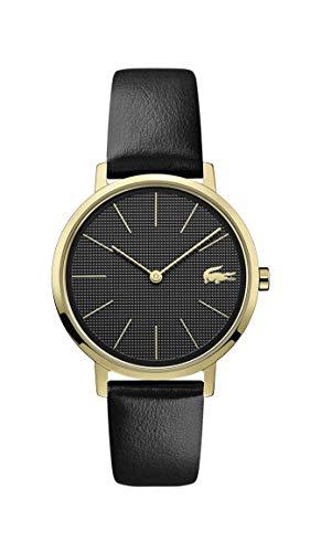 Lacoste Damen Analog Quarz Uhr mit Leder Armband 2001079