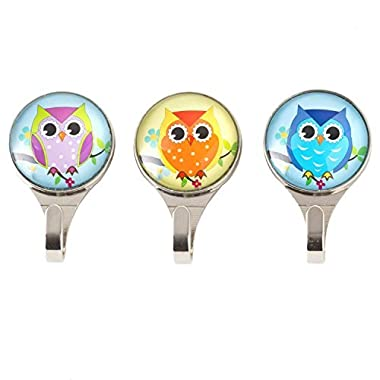 Owl Bathroom Decorative Solid Wall Hooks (set of 3 )- Easy Installation & Screws Included - Ideal hangers for Coats, Keys, Scarfs, Hats, Heavy Things No Problem