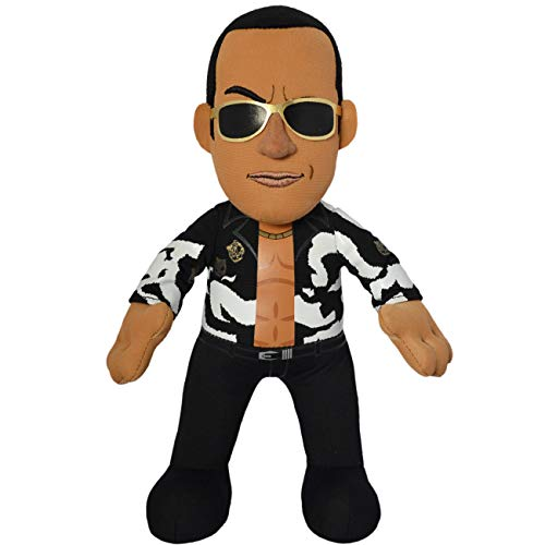 Bleacher Creatures WWE Old School The Rock 10' Plush Figure - A Wrestling Legend for Play or Display
