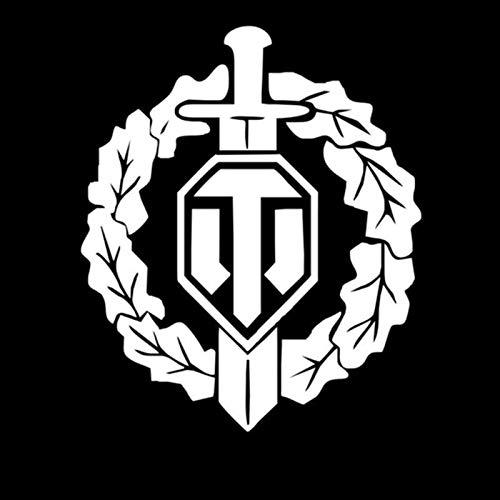 Csfssd Personalized car Stickers World of Tanks Auto Modifikation dekorative Autoaufkleber Tank World Logo militärische Hobby Auto Aufkleber (Color : White)