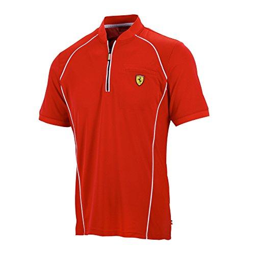 Ferrari rojo rendimiento cremallera camiseta - 5100504, Rojo